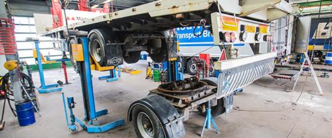 Werkplaats truck en trailer service